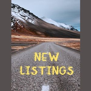 This just in... new listings!